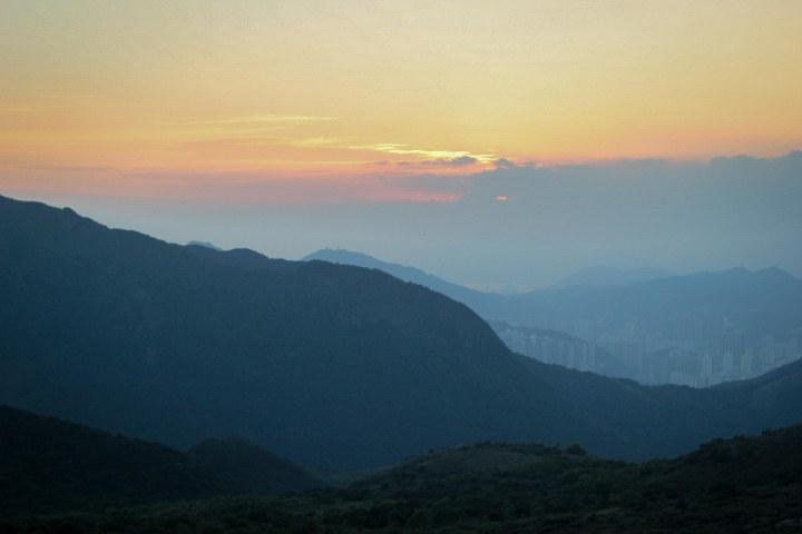 sunset hongkong